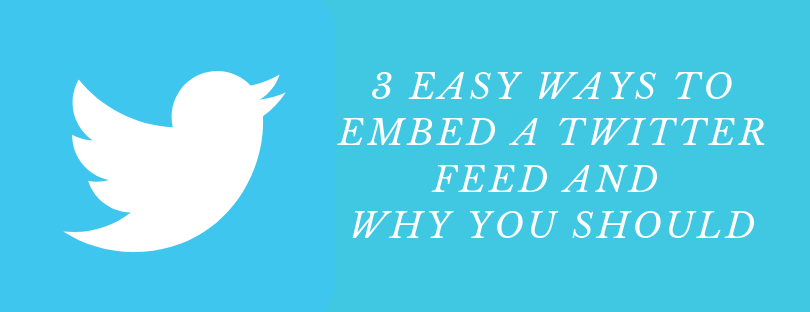 embed Twitter feeds