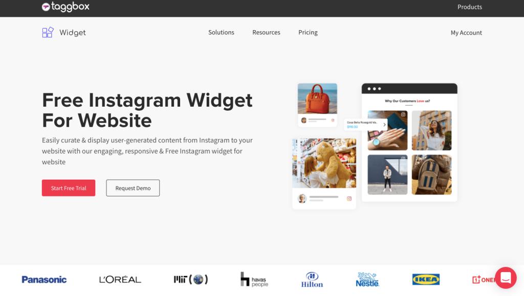 Instagram widget taggbox