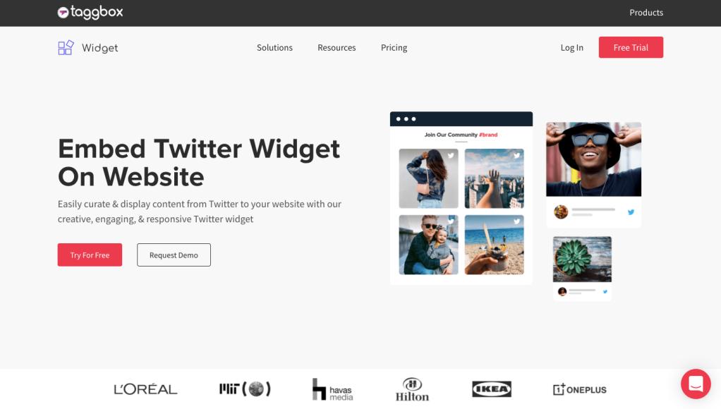 Taggbox Twitter widget